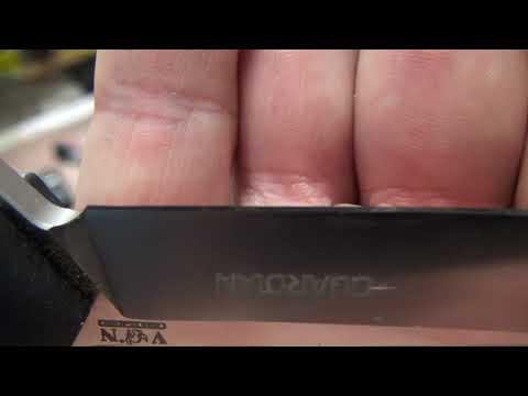 Нож GUARDIAN  VN-PRO/ Сталь D2.Заточка и некоторые манипуляции.