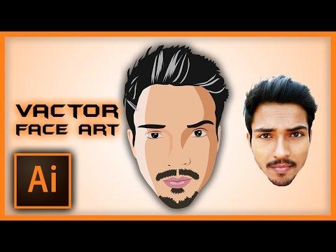 Illustrator Tutorial: Vector Face Art using PEN Tool | Speed Art