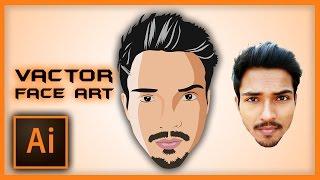 Illustrator Tutorial: Vector Face Art Using Pen Tool   Speed Art