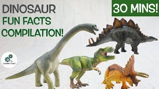 Learn about DINOSAURS! | 30 Mins Fun & Educational Compilation| Dinosaurs For Kids | Dinosaur Facts