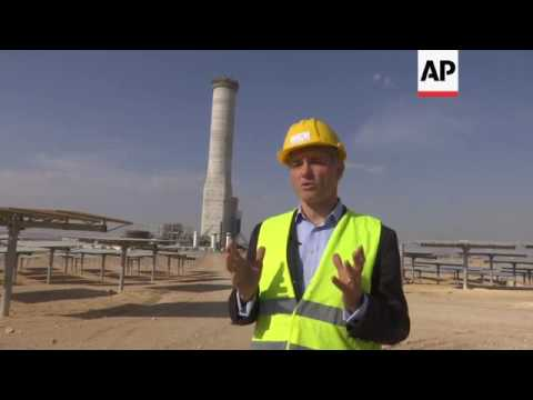 Massive solar tower plant built in the Negev Desert