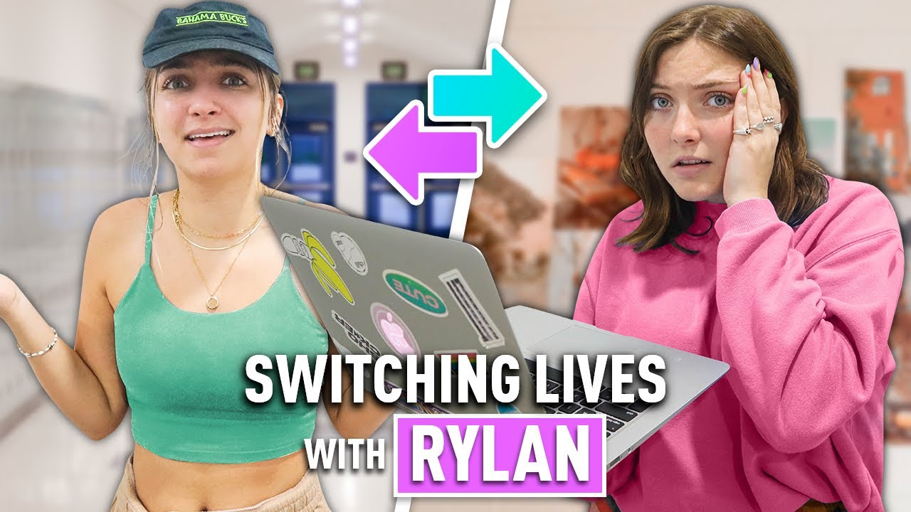 I'm Going Back to HIGH SCHOOL!   Switching Lives with Rylan for a Day