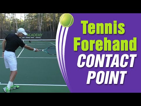 Tennis Forehand Contact Point For Optimum POWER!
