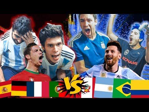 Los MEJORES de EUROPA VS Los MEJORES DE AMÉRICA   PES 2018 AL AZAR