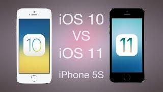 Сравнение iOS 10 vs iOS 11 на iPhone 5S