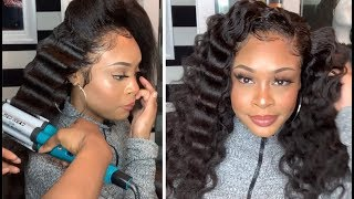 Does it Work? CRIMPS on Affordable Kinky Straight 360 Wig! (OMGQueen Hair)