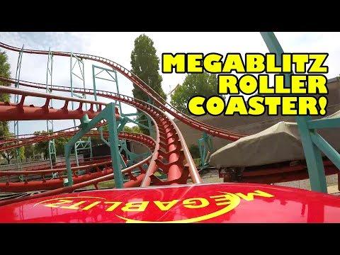 Megablitz Roller Coaster Front Seat POV Wiener Prater Austria