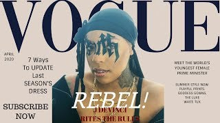 I recreated rihanna's latest british vogue magazine cover, where truth was displayed across her face. don't know how on earth did this but check it out f...