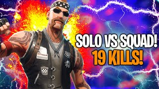 19 KILLS! REAL VICTORY IN SOLO VS SQUAD MASSIVE GOLD! WHAT A PARTY! Fortnite By FortuTheGamer