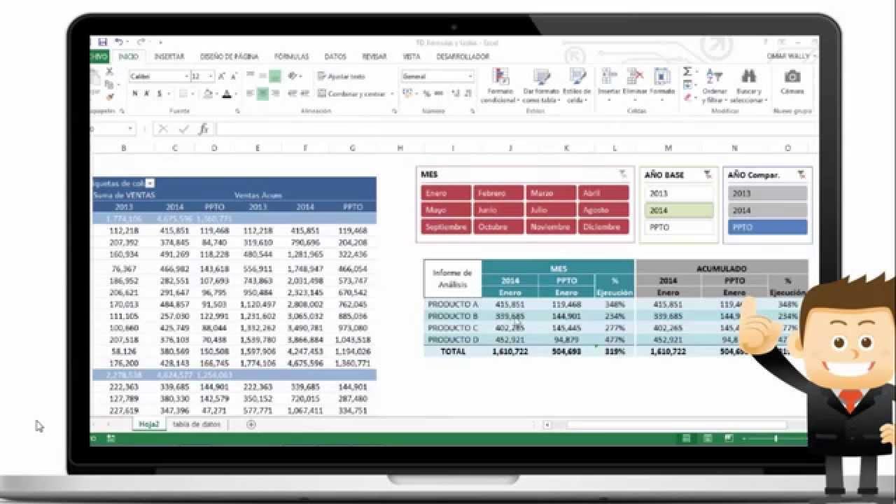 Cuadro de mando con Excel - YouTube