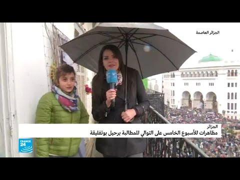 جزائريون يخرجون بكثافة في -جمعة الحسم- برغم سوء الأحوال الجوية  - نشر قبل 2 ساعة