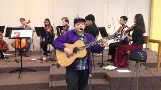 "Julien Kitson and the Singing Strings rehearse ""Thirteen"""
