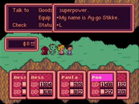 Earthbound Debug Menu English Patch Version 1 Youtube