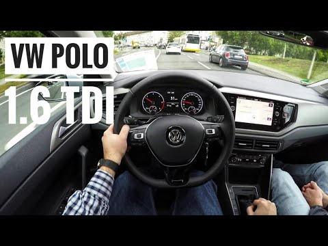 VW Polo VI 1.6 TDI (2018) - POV City Drive
