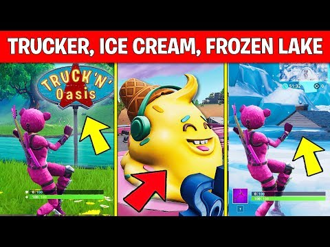 Use Keep It Mello at a Trucker's Oasis, Ice Cream Parlor and a Frozen Lake LOCATION Fortnite