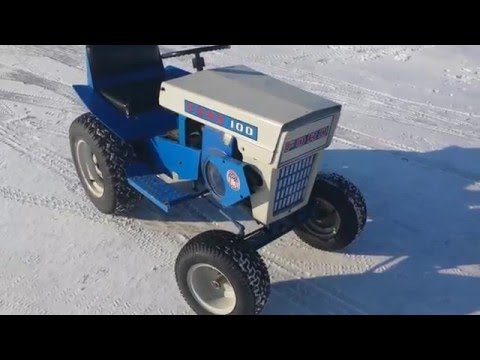 1968 Ford 100 garden tractor YouTube