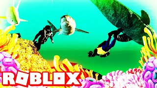 Roblox Marine World Scuba Diving With Sharks & Submarines Update