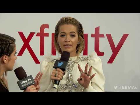 Rita Ora Magenta Carpet Interview  BBMAs 2017