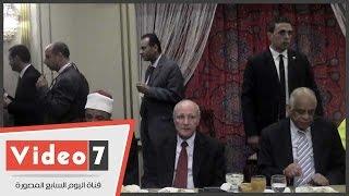 """رئيس البرلمان ووزراء الإنتاج الحربى والطيران والهجرة فى حفل إفطار """"حماة الوطن"""""""