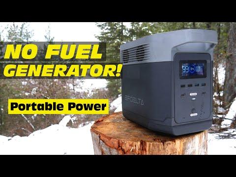 NO FUEL Generator! - Renewable portable power EcoFlow Delta Solar Generator