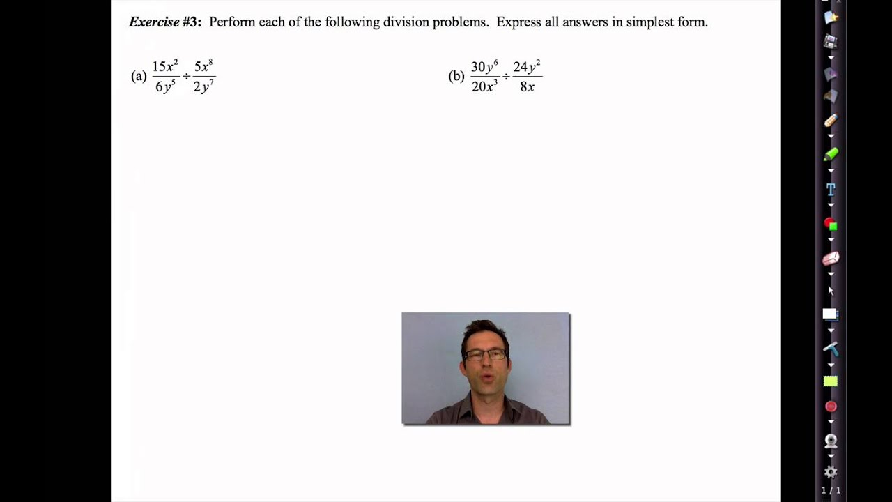 common core algebra iiunit 10lesson 7multiplying and dividing rational expressions youtube - Multiplying And Dividing Rational Expressions Worksheet