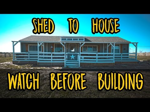 Shed to House - WATCH BEFORE YOU BUILD! Pros and Cons of our build