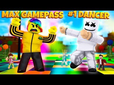 MAX GAMEPASS TOFUU vs #1 PLAYER MARSHMELLO (Roblox Dancing Simulator)
