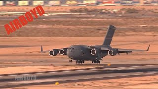 C-130 And C-17 Operations At Nellis