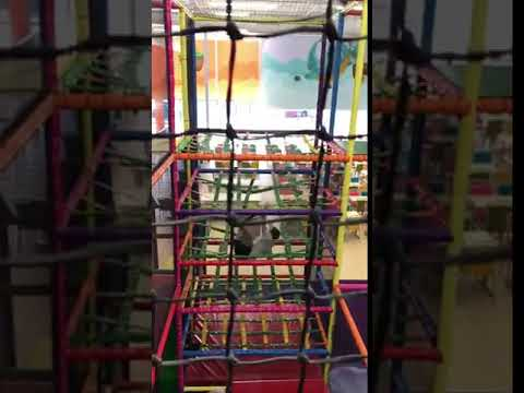 AJ - Dad Belly Flops Through Five Nets of a Kid's Play Structure