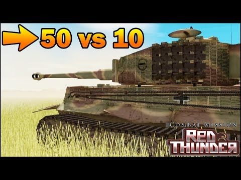 50 T-34 vs 10 TIGERS - SIMULATION - Combat Mission Red Thunder Gameplay