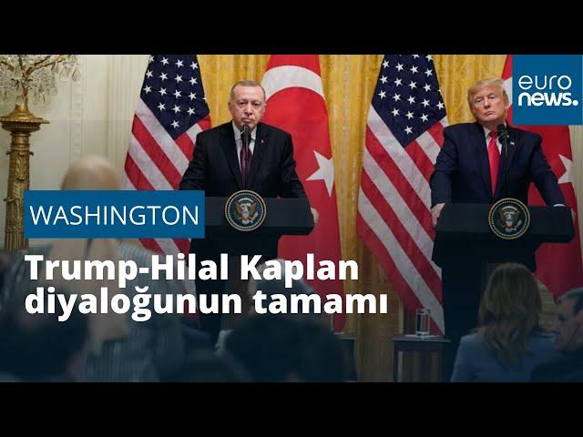 """""""Siz gazeteci olduğunuza emin misiniz?"""" Donald Trump - Hilal Kaplan diyaloğunun tamamı"""