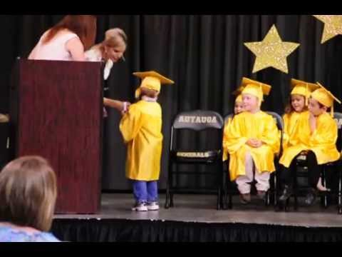 Autauga Academy Preschool Graduation 2013 - Si Receives Diploma
