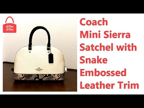 Coach Mini Sierra Satchel With Snake Embossed Leather Trim 57506 from YouTube · Duration:  1 minutes 43 seconds