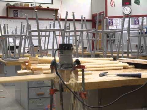Making wooden dowels