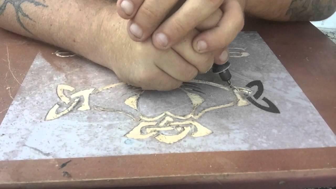 Wood Carving Dremel Dremel Wood Carving Irish Tv Tray Youtube
