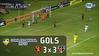 Gols - Sport 3 x 3 Ferroviário - Copa do Brasil 2018