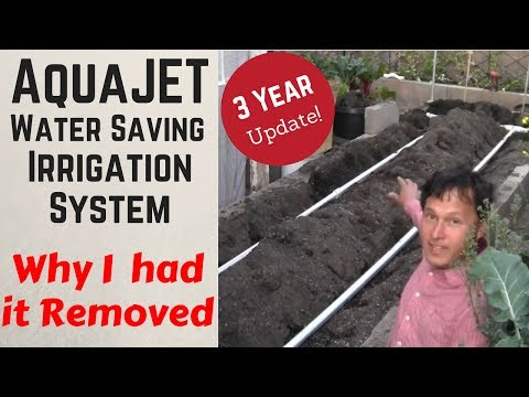 AquaJet Water Saving Irrigation System - Why I had it Removed: 3 Year Update