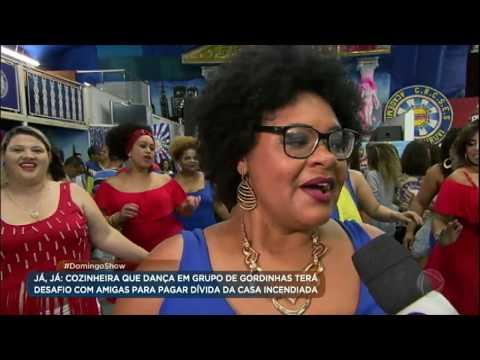 Domingo Show desafia Fátima e dançarinas plus size a se apresentarem no palco