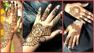 Top Beautiful Stylish Simple Trendy Mehndi Designs 2019