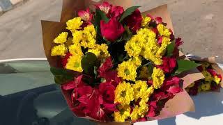видео Заказать букет цветов на выпускной вечер