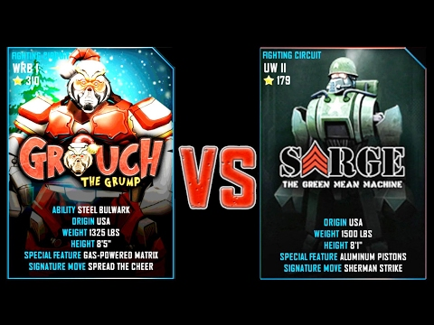 Real Steel WRB GROUCH VS Sarge NEW Robot updating (Живая Сталь)