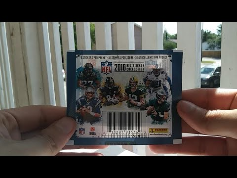 61fd3e1d369 Pack Review  362  2018 Panini NFL Sticker Collection Pack Break ...