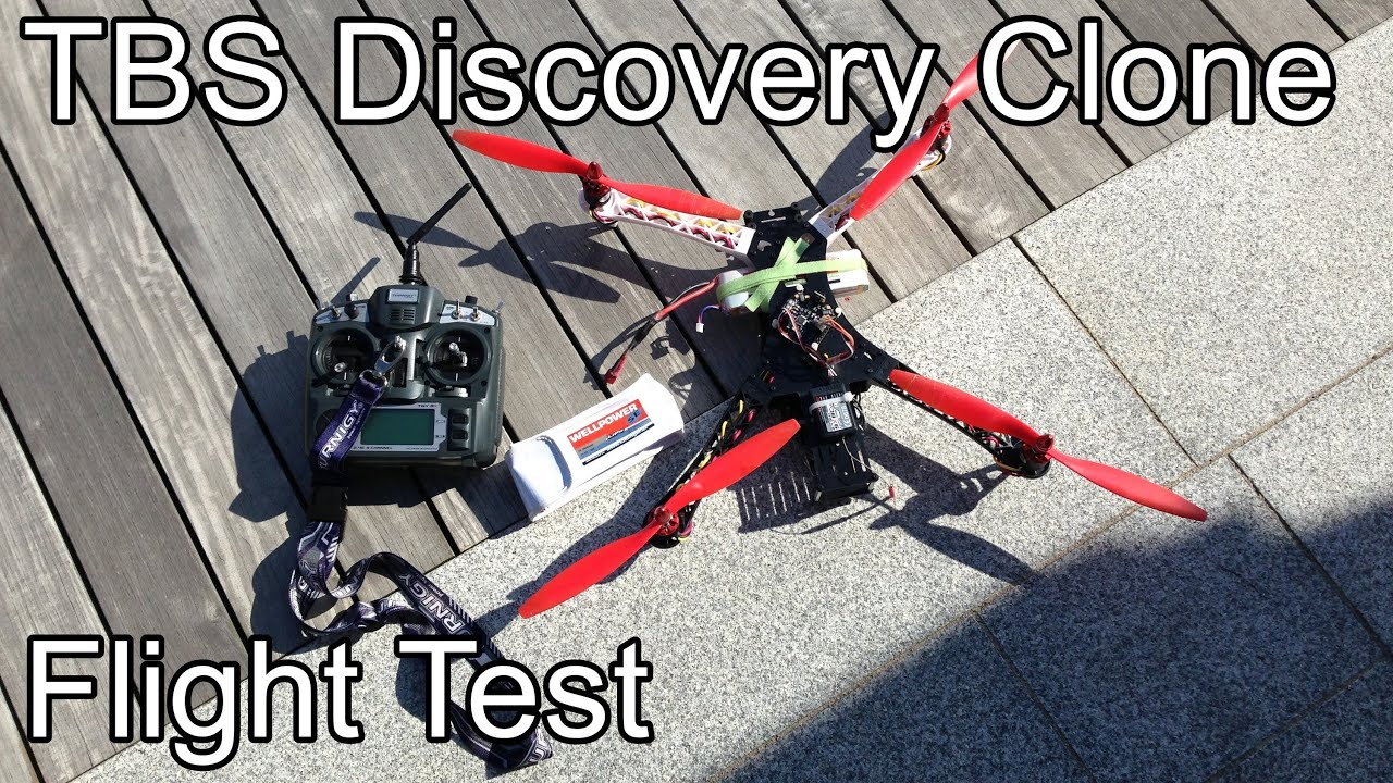 TBS Discovery Clone - with KK Multiboard V5.5 - flight test - YouTube