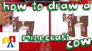 How To Draw A Minecraft Cow