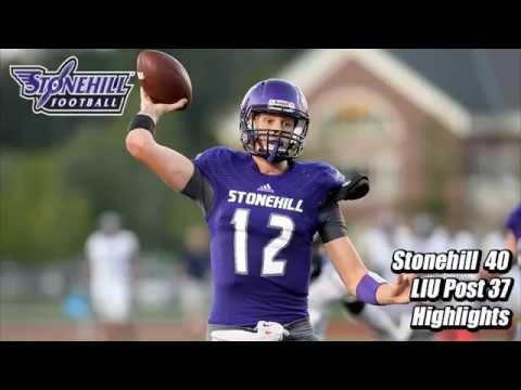 Stonehill Football Game Highlights at LIU Post