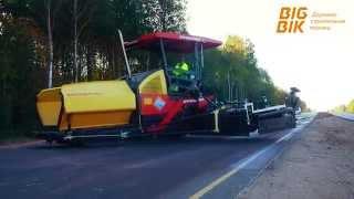 Разворот на дороге огромного асфальтоукладчика Dynapac(, 2015-08-03T17:09:57.000Z)