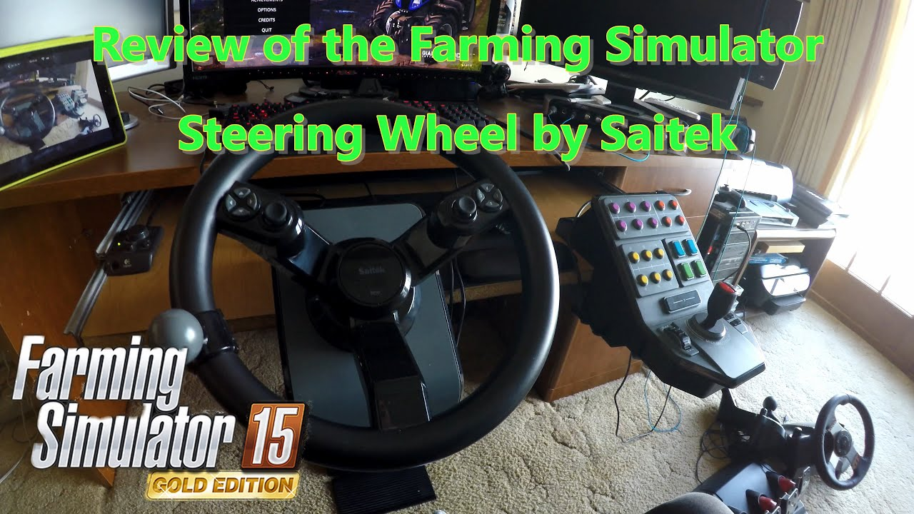 Review Of The Farming Simulator Steering Wheel By Saitek