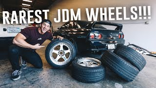 SKYLINE R32 GTR GETS RARE JDM WHEELS! *DREAM WHEELS*