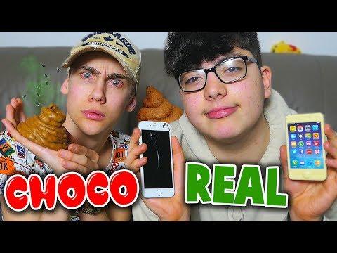 CHOCOLATE FOOD VS REAL FOOD CHALLENGE!