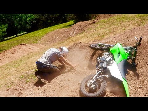 BAD PIT BIKE CRASH... NOT GOOD